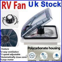 14' 420mm Fan Roof Vent Caravan Skylight RV Motorhomes Camper Window Accessories