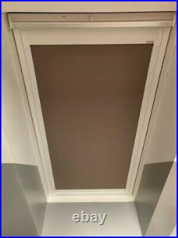 2 x Keylite roof skylight window blinds. SizeT06. Colour Muted Mocha