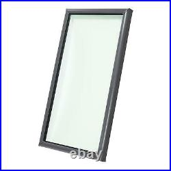 22.5 x 34.5 in Curb Mount Fixed Skylight Tempered Glass Home Roof Light Window