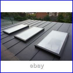 6 Size Skylight Rooflight Flat Roof Lantern Window Clear Triple Glazed Sky Light
