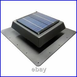 Acol Black EZYLITE SOLAR ROOF VENT FAN for Skylights & Roof Window 150mm EZSV150