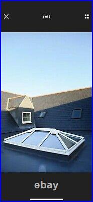 Aluminium ROOF LANTERN POD SKYPOD ROOFLIGHT SKYLIGHT SKY WHITE DOUBLE GLAZED