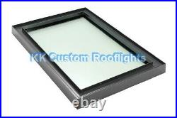 Aluminium Roof Lantern Rooflight Skylight Window LAMINATED Glass 1000 x 2000mm