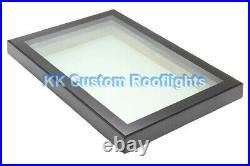 Aluminium Roof Lantern Rooflight Skylight Window LAMINATED Glass 1000 x 2500mm