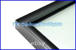 Aluminium Roof Lantern Rooflight Skylight Window LAMINATED Glass 1200 x 1200mm