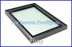 Aluminium Roof Lantern Rooflight Skylight Window LAMINATED Glass 600 x 1200mm