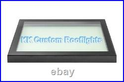Aluminium Roof Lantern Rooflight Skylight Window LAMINATED Glass 600 x 900mm