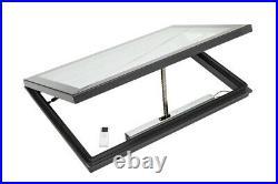Aluminium Rooflight Skylight Window Remote Electric LAMINATED Glass 1000x 2000mm