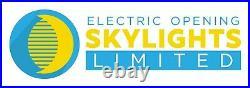 Aluminium Rooflight Skylight Window Remote Electric LAMINATED Glass 1200x 1200mm