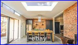 Aluminium Skylight Roof Window Solar Control Glass Self Cleaning Double Glazed