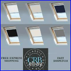 BLACKOUT THERMAL SKYLIGHT BLINDS COMPATIBLE FOR All VELUX ROOF WINDOWS-ALL SIZES