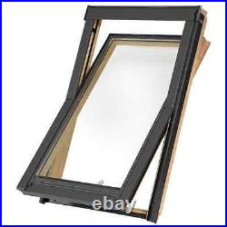 Balio Centre Pivot Pine Roof Window, Loft Rooflight, Skylight Inc. Flashing Kit