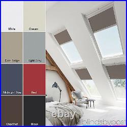 Blackout Skylight Roller Blinds For All Keylite Roof Windows Easy Fit Child Safe