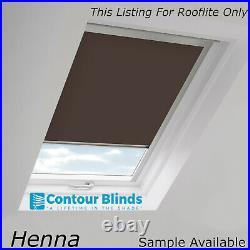 Blackout Skylight Roller Blinds For All Rooflite Roof Windows Easy Fit Childsafe