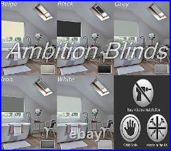 Blackout Skylight Roller Blinds For Velux Roof Windows Waterproof Fabric