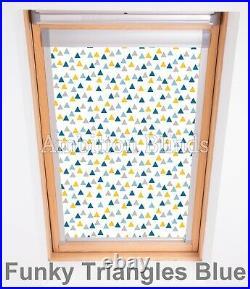 Blackout Skylight Roller Roof Blinds For Velux Roof Windows Childrens Patterns