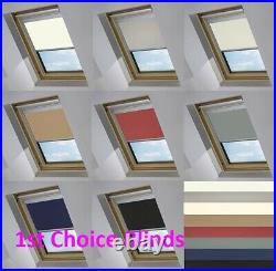 Blackout Thermal Skylight Black Roller Blind For Velux Roof Windows All Sizes