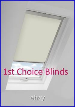 Blackout Thermal Skylight Cream Roller Blind For Velux Roof Windows All Sizes