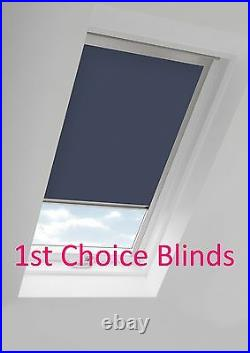 Blackout Thermal Skylight Grey Roller Blind For Velux Roof Windows All Sizes