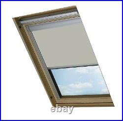 Bloc Skylight Blind for Velux Roof Windows Blockout, Fabric, Pale Stone, 130x