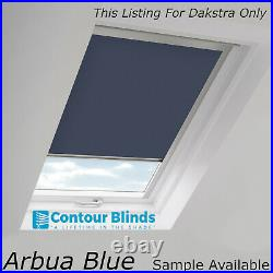 Blue Blackout Fabric Blinds For Roof Skylight. For All Dakstra Roof Windows