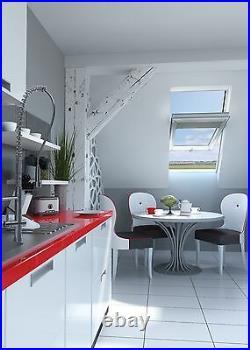 Centre Pivot White PVC Roof Windows 114cm x 118cm Sunlux Skylight Rooflight