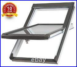 Centre Pivot White PVC Roof Windows 55cm x 78cm Sunlux Loft Skylight Rooflight