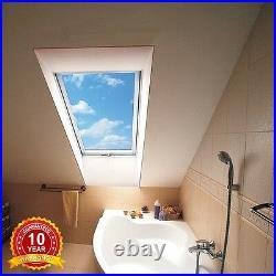 Centre Pivot White PVC Skylight Roof Window 78 x 118cm +Flashing Rooflite Sunlux