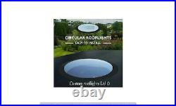 Circular Skylight round Rooflight flat glass roof window Triple Glazed