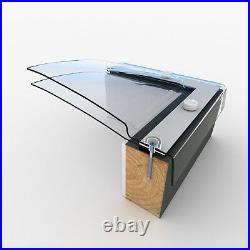 Dome Roof Light, Polycarbonate Flat Roof Skylight Window, Fixed, Double Skin
