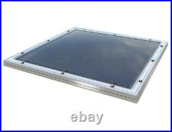Dome Roof Light, Polycarbonate Flat Roof Skylight Window, Fixed, Triple Skin