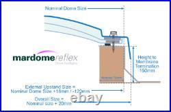 Dome Rooflight, Mardome Reflex Skylight, Modern Polycarbonate Flat Roof Window