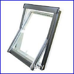Duratech (Rooflite) Roof Window Skylight 780 x 1180mm White uPVC Inc. Flashing