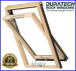 Duratech (Rooflite) Vented Roof Window Skylight 780 x 980mm Inc. Flashing
