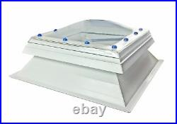 Electric automatic opening Roof Dome Skylight Window double skin upstand, Remote