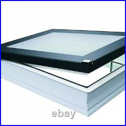 Fakro DEF Flat Roof Window Electric open Skylight Rooflight & Kerb Triple Glazed