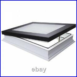 Fakro DMF Flat Roof Window Manual opening Skylight Rooflight & Kerb Triple Glass