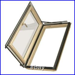 Fakro Venting Roof Skylight Window Wood Frame Aluminum Tempered Glass Deck Mount