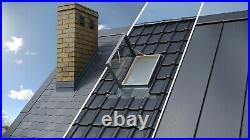 Fenstro 45x55cm Double Glazed Skylight Access Roof Window Integrated Flashing