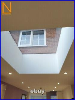 Fixed flat roof skylight-rooflight-roofwindow-selfcleaning all sizes huge sale