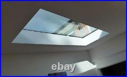Fixed roof windows any size TGS Skylights Warranty BS EN12150 & EN 1279
