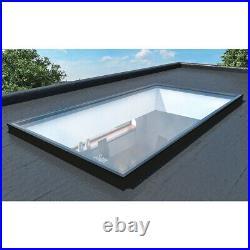Flat Roof Skylight Lantern Glass Glazed Rooflight Roof Fixed Window Sky Light