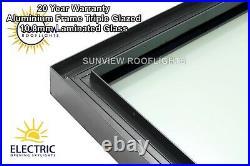 Flat Roof Window Rooflight Lantern Skylight Triple Glaze Ali Frame Laminated