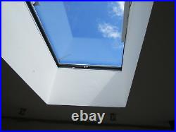 Flat Roof Window Skylight Rooflight Hinged Remote Electric Opening 1000mmX1000mm