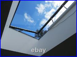 Flat Roof Window Skylight Rooflight Hinged Remote Electric Opening 1200mmX1200mm