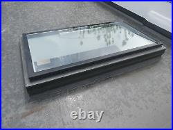 Flat Roof Window Skylight Rooflight Hinged Remote Electric Opening 800mm x1200mm