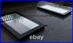 Flat Roof lantern Glass Rooflight Skylight Roof window 20 Year warranty 600x1800