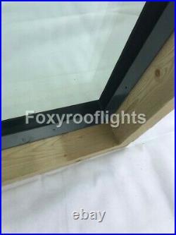 Flat Roof light Skylight Lantern Window Aluminium Laminated Glass 1000 x 1000mm