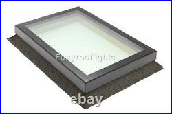 Flat Roof light Skylight Lantern Window Aluminium Laminated Glass 1000 x 3000mm