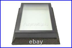 Flat Roof light Skylight Lantern Window Aluminium Laminated Glass 1200 x 1200mm